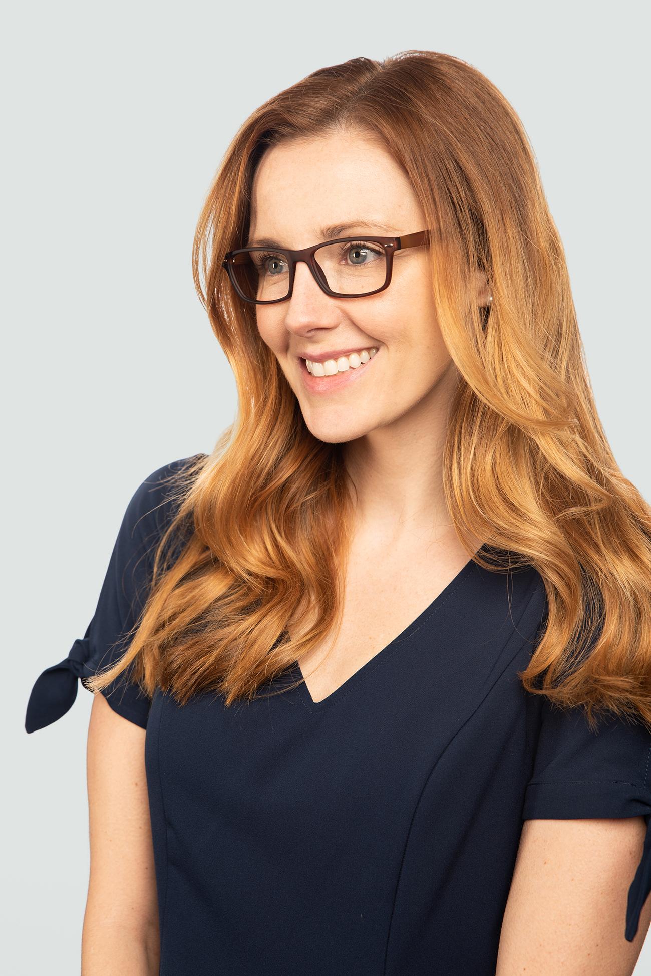 Second model wearing Retro Eyewear 103 frames