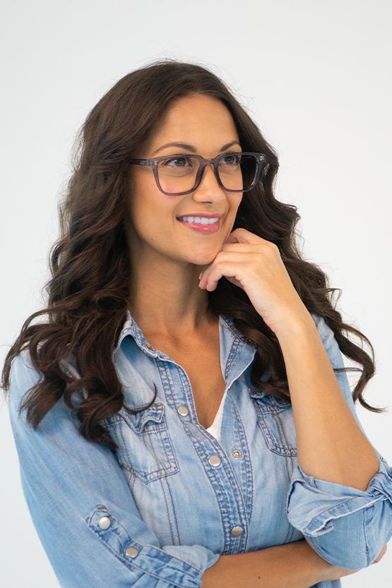 First model wearing Jamesport frames
