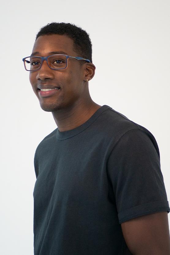 Second model wearing NOTTINGHAM frames