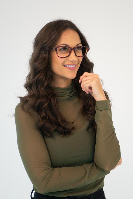 First model wearing SAHARA frames