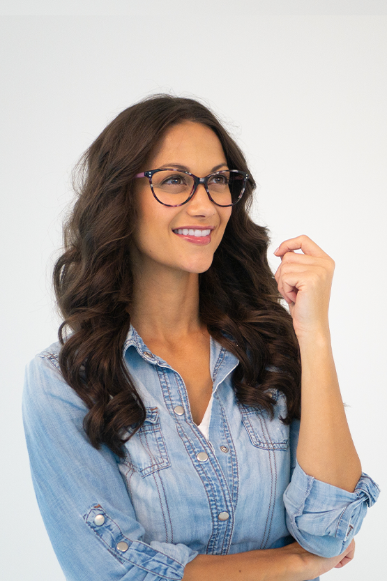 First model wearing Marie Claire 6244 frames