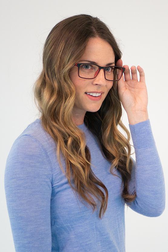 First model wearing Denver frames