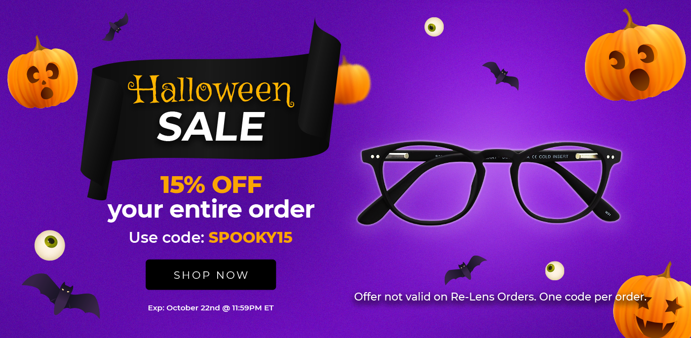 Halloween Sale. Get 15% off your entire order. Use code: SPOOKY15. Ends October 22nd @ 11:59PM ET.